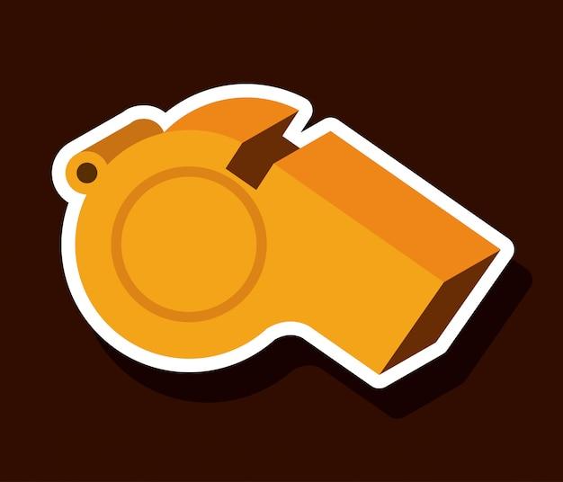Whistle design Premium Vector