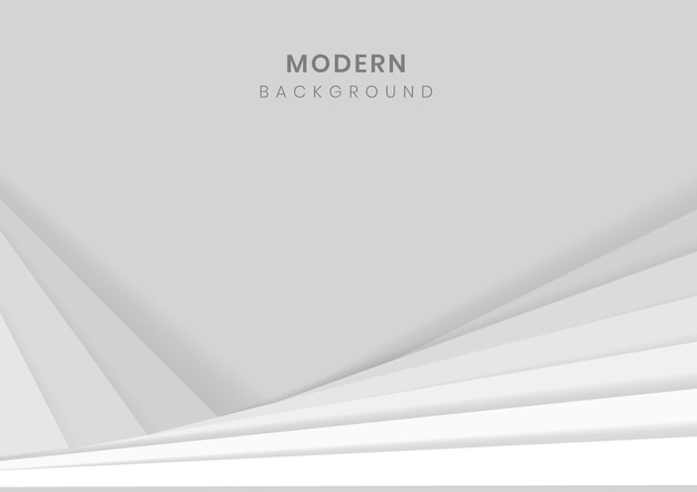 White 3d geometric modern background Free Vector