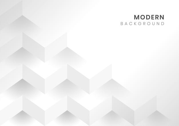 White 3d geometric modern background Free Vector