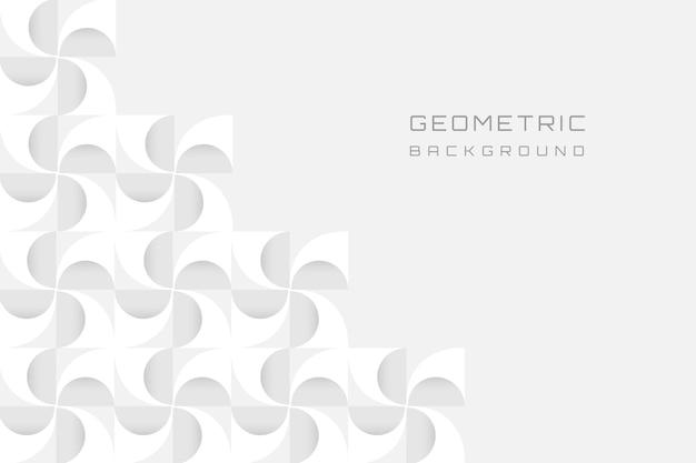 Sfondo moderno geometrico bianco 3d Vettore gratuito
