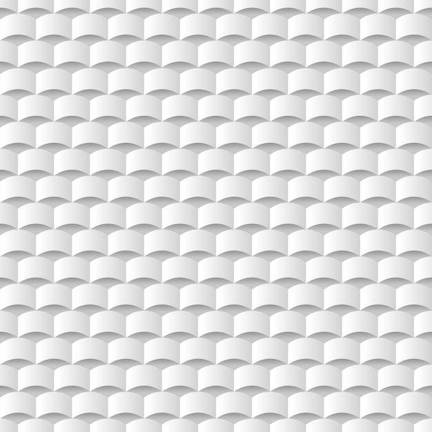 White 3d geometric texture background Premium Vector