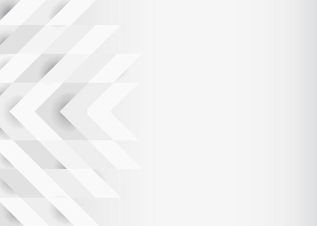 White 3d modern background design Free Vector