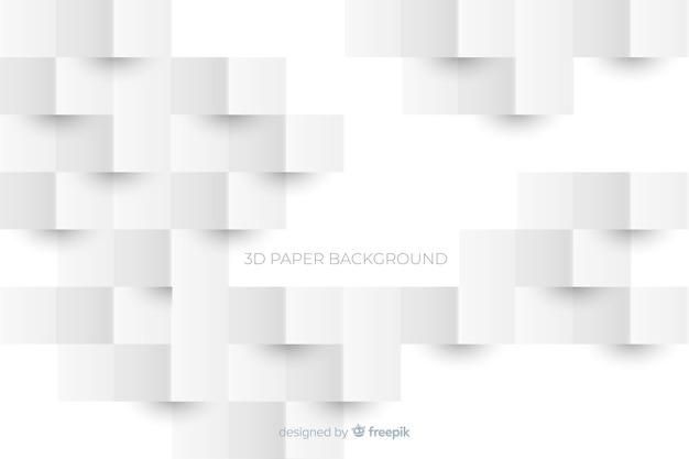 Белая 3d бумага стиль фона Premium векторы