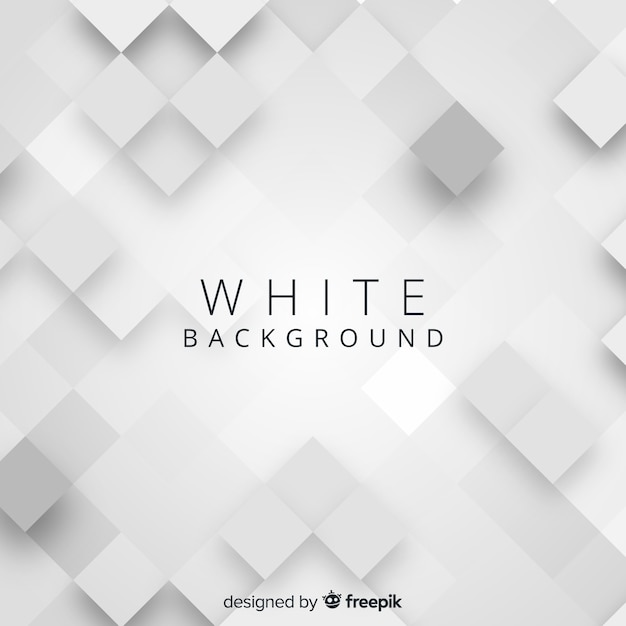 White 3d paper style background Free Vector