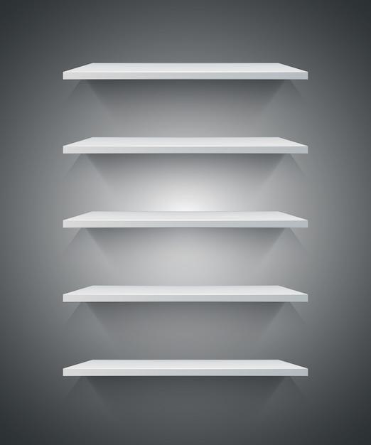 3d棚のアイコンを白くする。 Premiumベクター