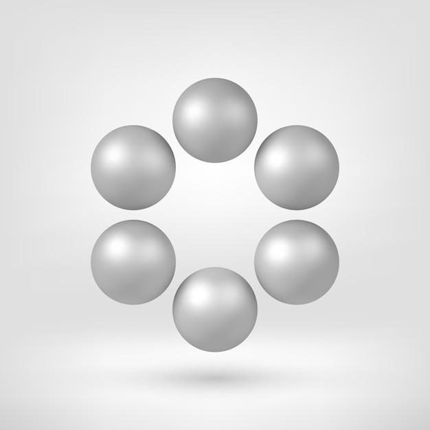 White abstract 3d shape Premium Vector