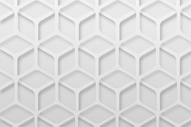 White abstract background in 3d paper style Free Vector