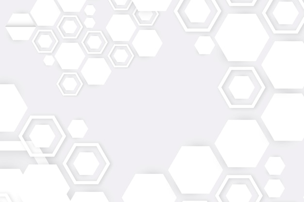 White abstract background 3d paper style Free Vector