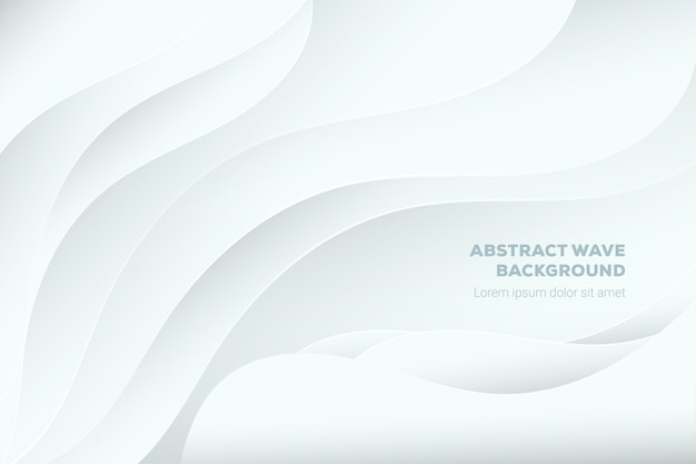 White abstract background in 3d paper style Premium Vector
