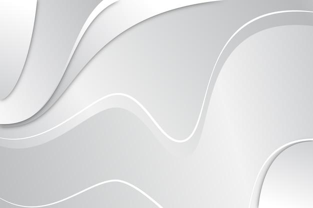 白の抽象的な背景デザイン 無料ベクター