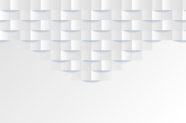 3 dデザインの白の抽象的な背景 無料ベクター