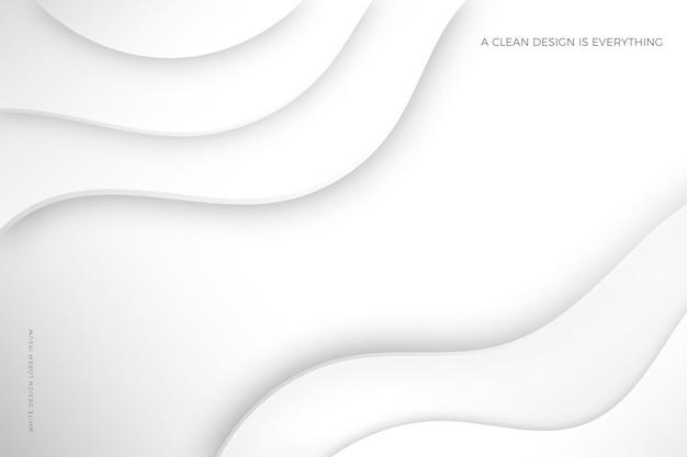 Белый абстрактный фон 3d стиль бумаги Premium векторы