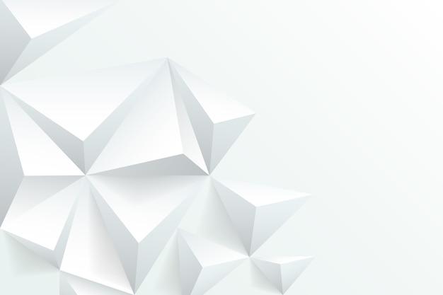 Белый абстрактный фон в стиле 3d бумаги Premium векторы