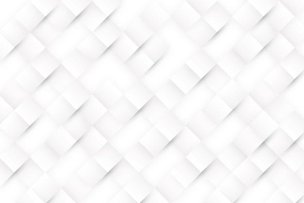 3 dペーパースタイルの白の抽象的な背景 無料ベクター
