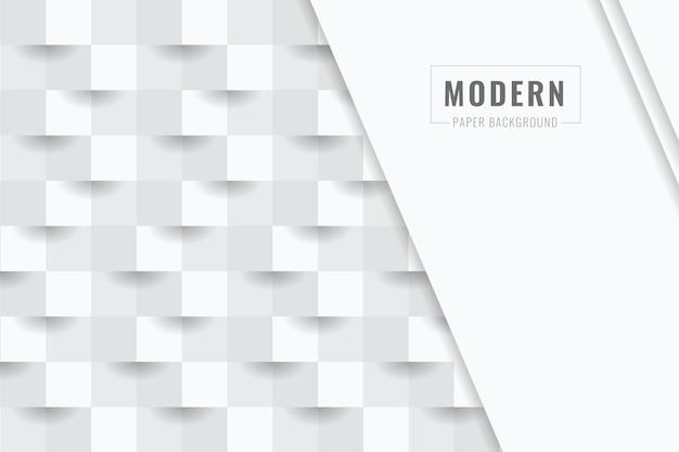 3 dペーパースタイルの白の抽象的な背景 Premiumベクター