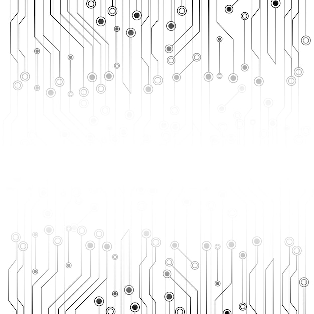 white abstract background with electronics circuit board  vector
