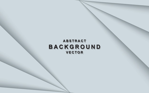 White abstract background with overlap layers Premium Vector
