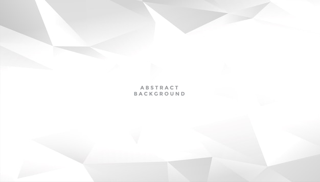 White abstract geometric shape background design Free Vector