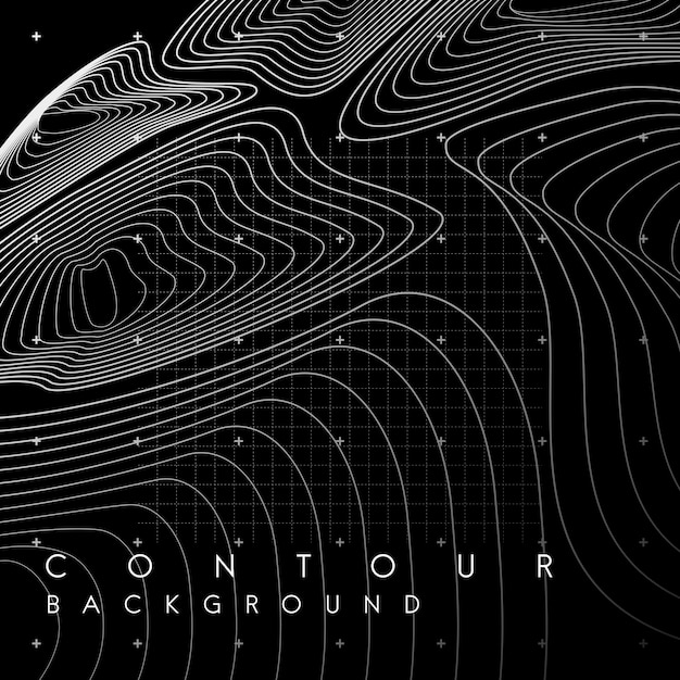 White abstract map contour lines banner Free Vector