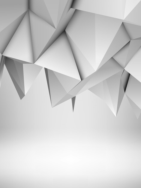 White abstract polygonal background Premium Vector