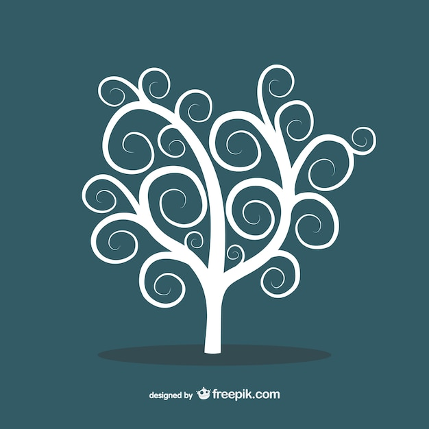 White abstract tree Free Vector