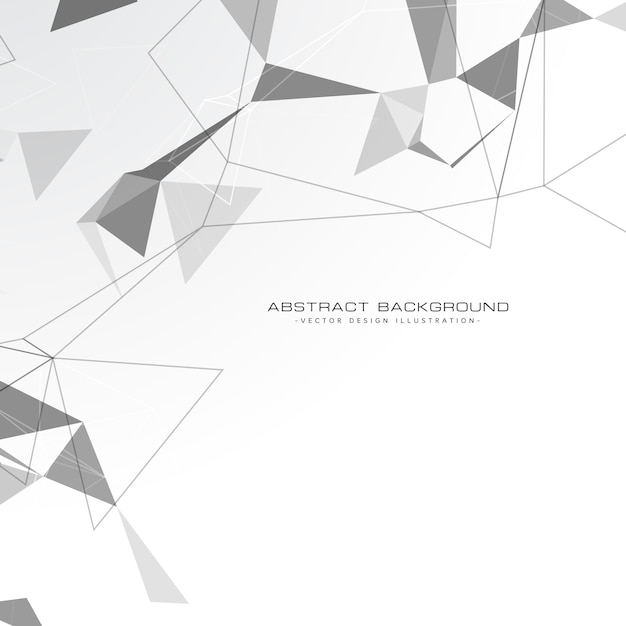 White Abstract Triangles Background Free Vector