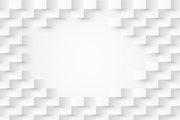 White abstract wallpaper in 3d paper concept Free Vector
