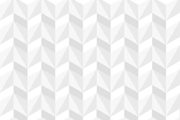 White abstract wallpaper in 3d paper design Free Vector