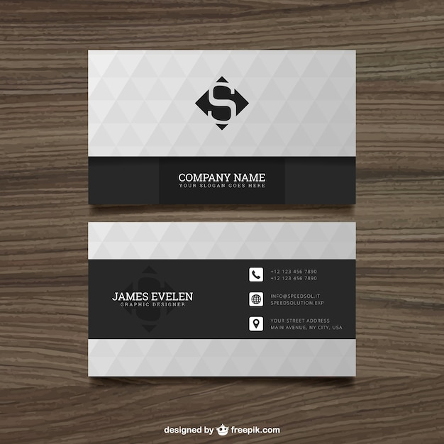 White and black business card Vector