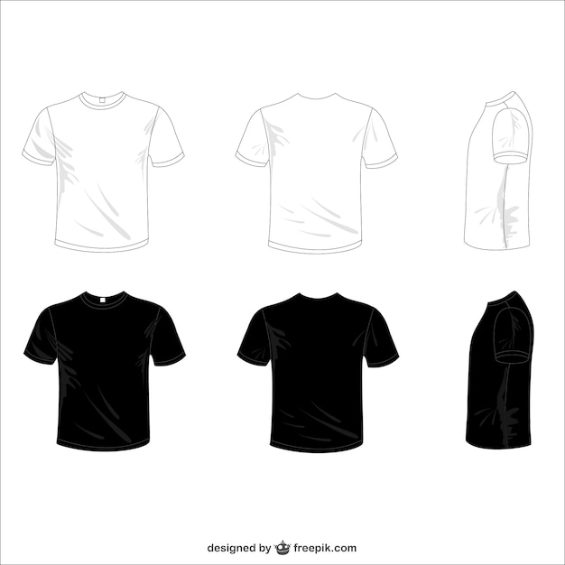 White and black tees Free Vector