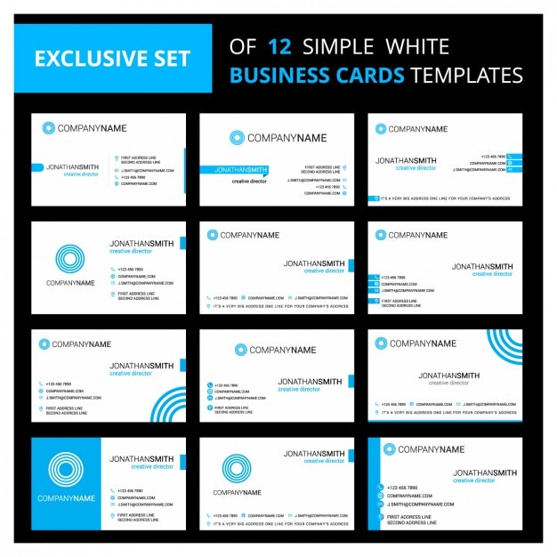 White and blue business cards templates vector free download white and blue business cards templates free vector cheaphphosting Gallery