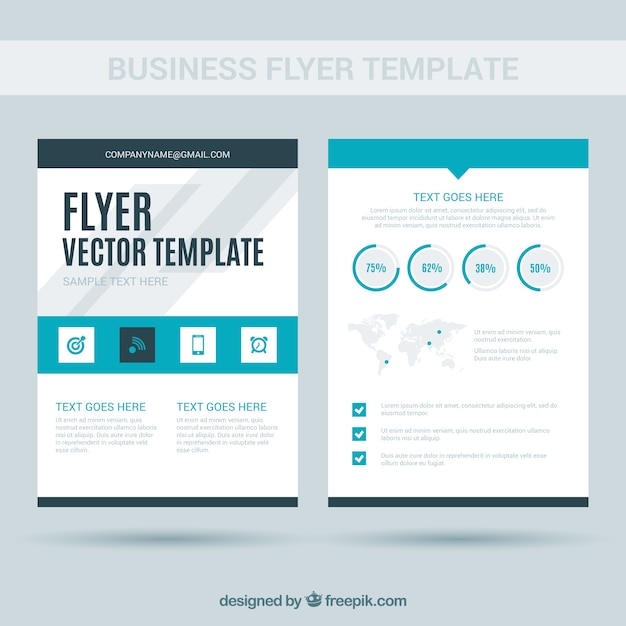 White And Blue Business Flyer Template Vector Free Download
