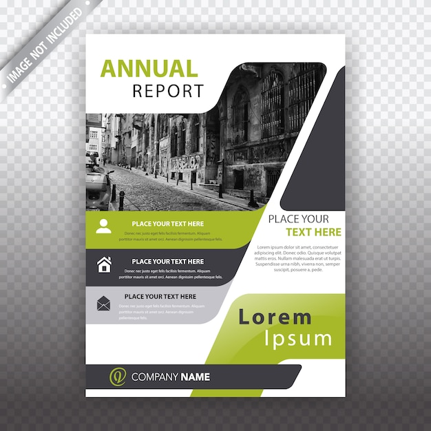White and green business brochure