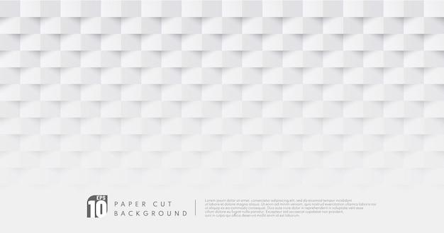 흰색과 회색 컬러 종이 컷 디자인 패턴 배경 프리미엄 벡터