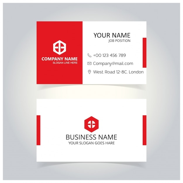 White and red business card template vector free download white and red business card template free vector accmission Gallery