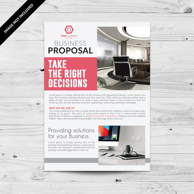 White And Red Business Flyer Vector Free Download