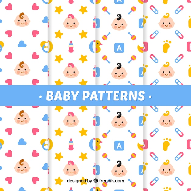 White baby pattern collection