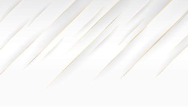 白い背景と金色の斜めの線のデザイン 無料ベクター