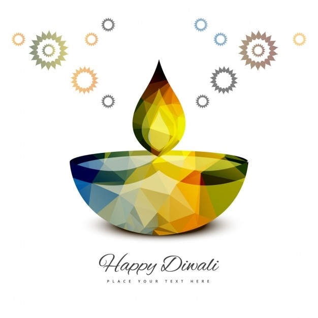 White background for diwali Free Vector