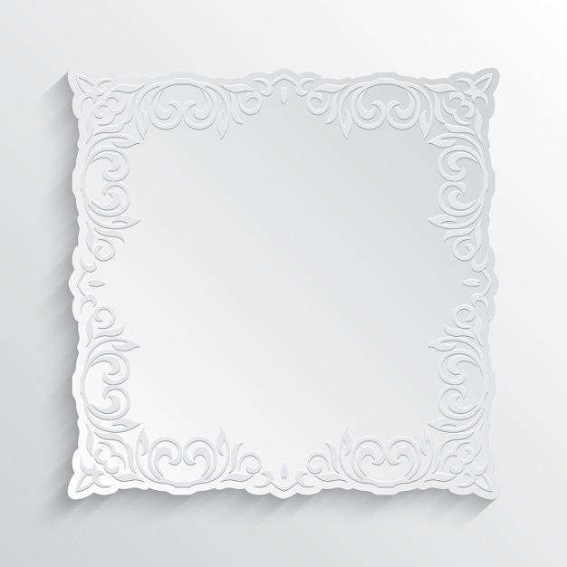 White background, ornamental frame