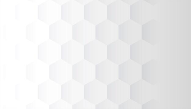 3d 육각형 패턴 디자인 흰색 배경 무료 벡터