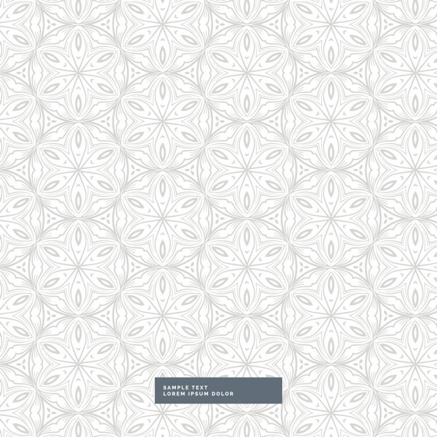 white background with a gray floral pattern vector free