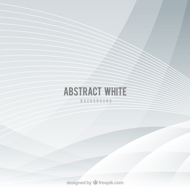 White background with abstract design Free Vector