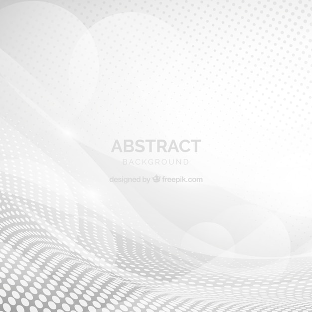 White background with abstract shapes Free Vector