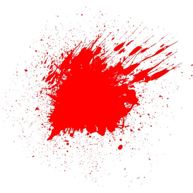 White background with a bloodstain for halloween Free Vector