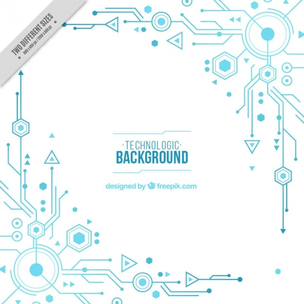 White background with blue circuits Vector | Free Download