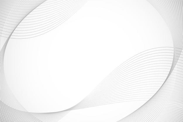 円形の線のコピースペースと白い背景 無料ベクター