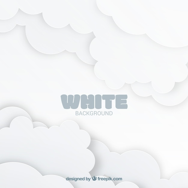 White background with clouds