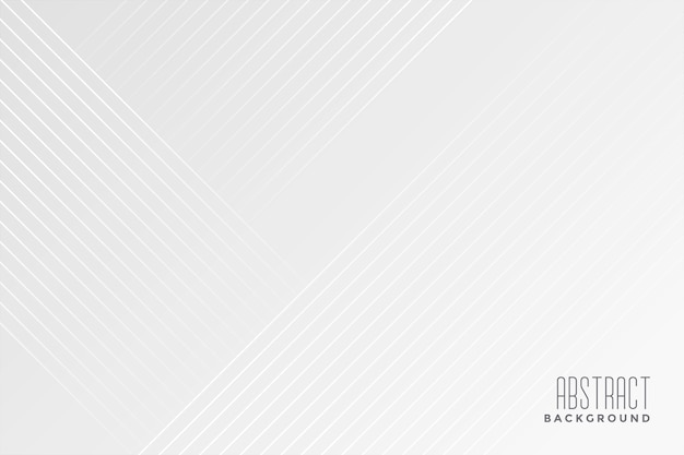 White background with diagonal lines design Free Vector