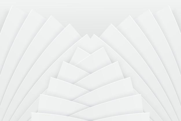 ダイナミックな形の白い背景 無料ベクター